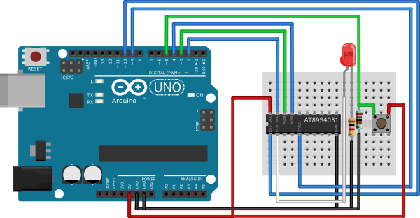 Programming an at s with arduino